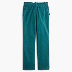 Jcrew cropped ruffle chino pants